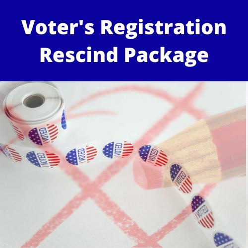 Voter's Registration Package - $249.99